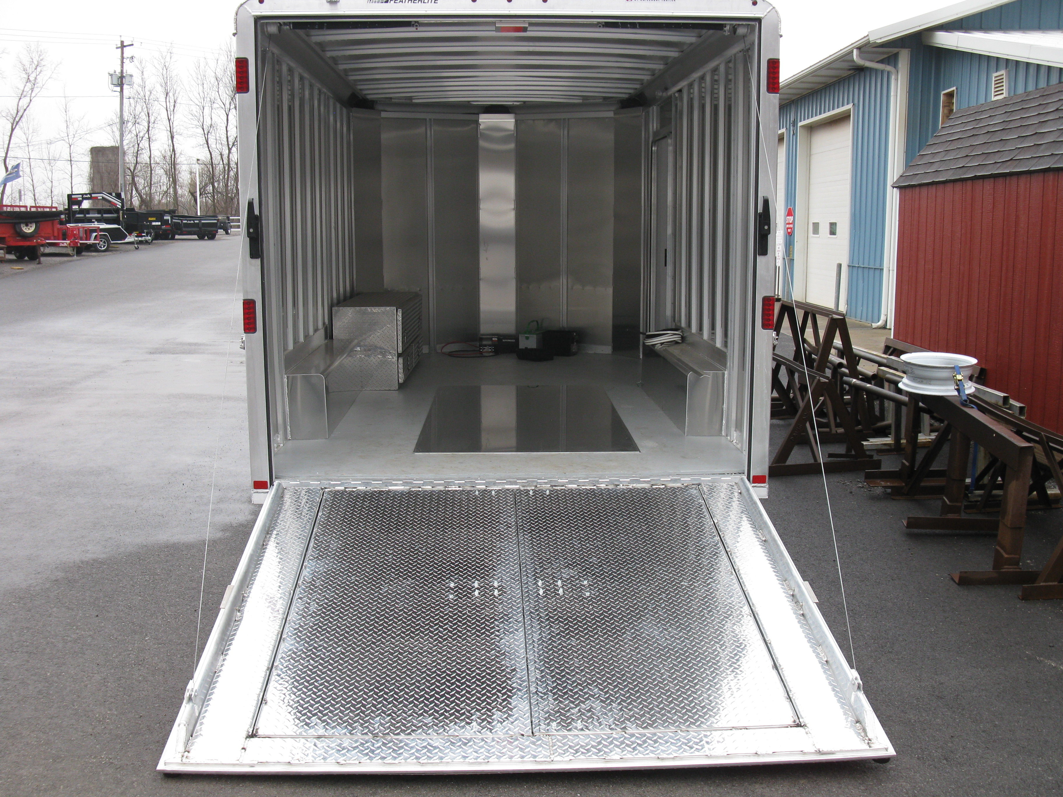 Custom Cargo Trailer With Rear Ramp And Double Doors