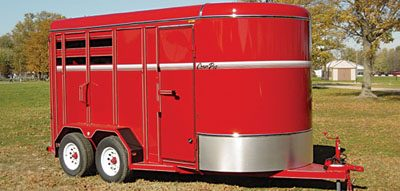 Corn Pro 2, 3, and 4 Slant Load Horse Trailers
